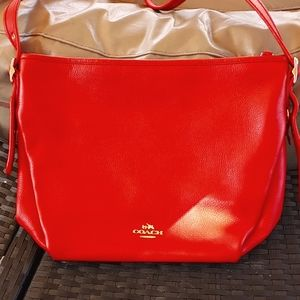 Coach pebbled leather dufflette bag
